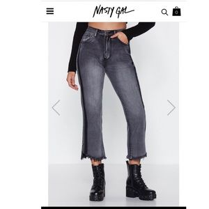 NWT You Can Fray That Again Straight-Leg Jeans